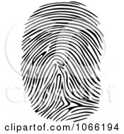 Clipart Thumb Print Royalty Free Vector Illustration