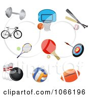Clipart Sports Icons Royalty Free Vector Illustration by Vector Tradition SM