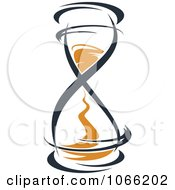 Clipart Orange And Black Hourglass 11 Royalty Free Vector Illustration