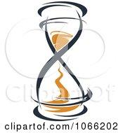 Orange And Black Hourglass 11