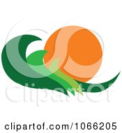 Clipart Leaf And Sun Landscape Logo 6 Royalty Free Vector Illustration
