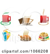 Clipart Beverage And Food Logos Royalty Free Vector Illustration