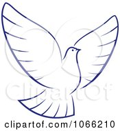 Clipart Flying Dove 1 Royalty Free Vector Illustration by Vector Tradition SM