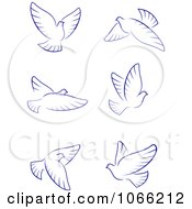 Clipart Flying Doves 2 Royalty Free Vector Illustration by Vector Tradition SM