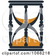 Clipart Orange And Black Hourglass 2 Royalty Free Vector Illustration