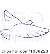 Clipart Flying Dove 3 Royalty Free Vector Illustration by Vector Tradition SM