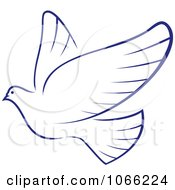 Clipart Flying Dove 6 Royalty Free Vector Illustration by Vector Tradition SM