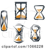 Clipart Hourglasses 1 Royalty Free Vector Illustration