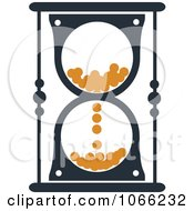 Clipart Orange And Black Hourglass 8 Royalty Free Vector Illustration