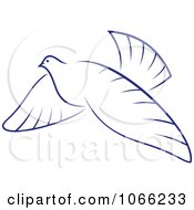 Clipart Flying Dove 2 Royalty Free Vector Illustration by Vector Tradition SM