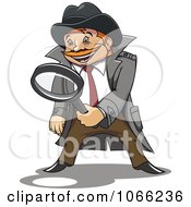 Clipart Investigator Inspecting Royalty Free Vector Illustration