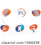 Clipart People Logos 1 Royalty Free Vector Illustration