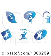 Clipart People Logos 2 Royalty Free Vector Illustration