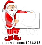 Santa Holding A Sign Board