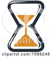Clipart Orange And Black Hourglass 3 Royalty Free Vector Illustration