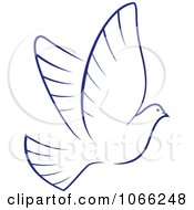 Clipart Flying Dove 4 Royalty Free Vector Illustration by Vector Tradition SM
