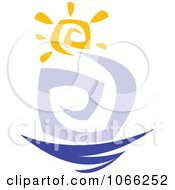 Clipart Sun Wind And Water Royalty Free Vector Illustration