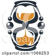 Clipart Orange And Black Hourglass 10 Royalty Free Vector Illustration