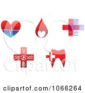 Clipart Dental And Medical Logos Royalty Free Vector Illustration by Vector Tradition SM
