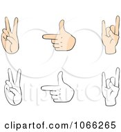 Clipart Sign Language Digital Collage 2 Royalty Free Vector Illustration
