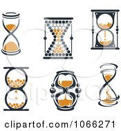 Clipart Hourglasses 2 Royalty Free Vector Illustration