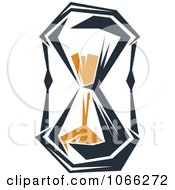 Clipart Orange And Black Hourglass 5 Royalty Free Vector Illustration