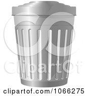 Clipart Metal Trash Bin 2 Royalty Free Vector Illustration