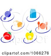 Clipart Healthy Food Logos Royalty Free Vector Illustration by Vector Tradition SM