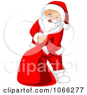 Clipart Santa Reaching Into His Sack Royalty Free Vector Illustration by Vector Tradition SM