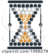 Clipart Orange And Black Hourglass 7 Royalty Free Vector Illustration
