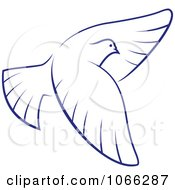 Clipart Flying Dove 5 Royalty Free Vector Illustration by Vector Tradition SM