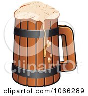 Clipart Pint Of Beer Royalty Free Vector Illustration by Vector Tradition SM
