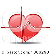 Clipart Heart And Beat Royalty Free Vector Illustration