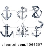 Clipart Anchors 3 Royalty Free Vector Illustration