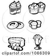 Clipart Black And White Food Icons 5 Royalty Free Vector Illustration