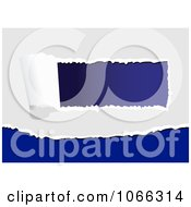 Clipart Blue And White Tears Royalty Free Vector Illustration