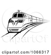 Clipart Black And White Train Royalty Free Vector Illustration by Seamartini Graphics