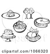 Clipart Black And White Food Icons 6 Royalty Free Vector Illustration