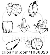 Clipart Black And White Food Icons 9 Royalty Free Vector Illustration