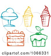 Clipart Food Icons 2 Royalty Free Vector Illustration