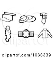 Clipart Black And White Fashion Icons 1 Royalty Free Vector Illustration