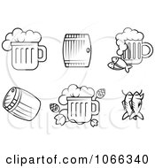 Clipart Black And White Food Icons 7 Royalty Free Vector Illustration