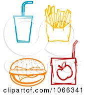 Clipart Food Icons 1 Royalty Free Vector Illustration