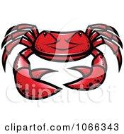 Clipart Grumpy Crab Royalty Free Vector Illustration