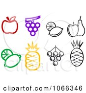 Clipart Food Icons 4 Royalty Free Vector Illustration