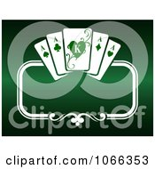 Clipart Green Playing Card Background Royalty Free Vector Illustration