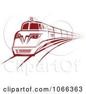 Clipart Red Train Royalty Free Vector Illustration by Seamartini Graphics