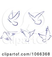 Clipart Flying Doves 1 Royalty Free Vector Illustration by Vector Tradition SM