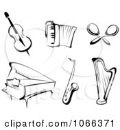 Clipart Instruments Royalty Free Vector Illustration by Vector Tradition SM
