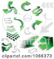 Clipart Green Arrows Royalty Free Vector Illustration